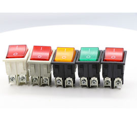 Dpst On Off Neon Lamp KCD Rocker Switch, 120V Double Throw KCD4 Rocker Switch